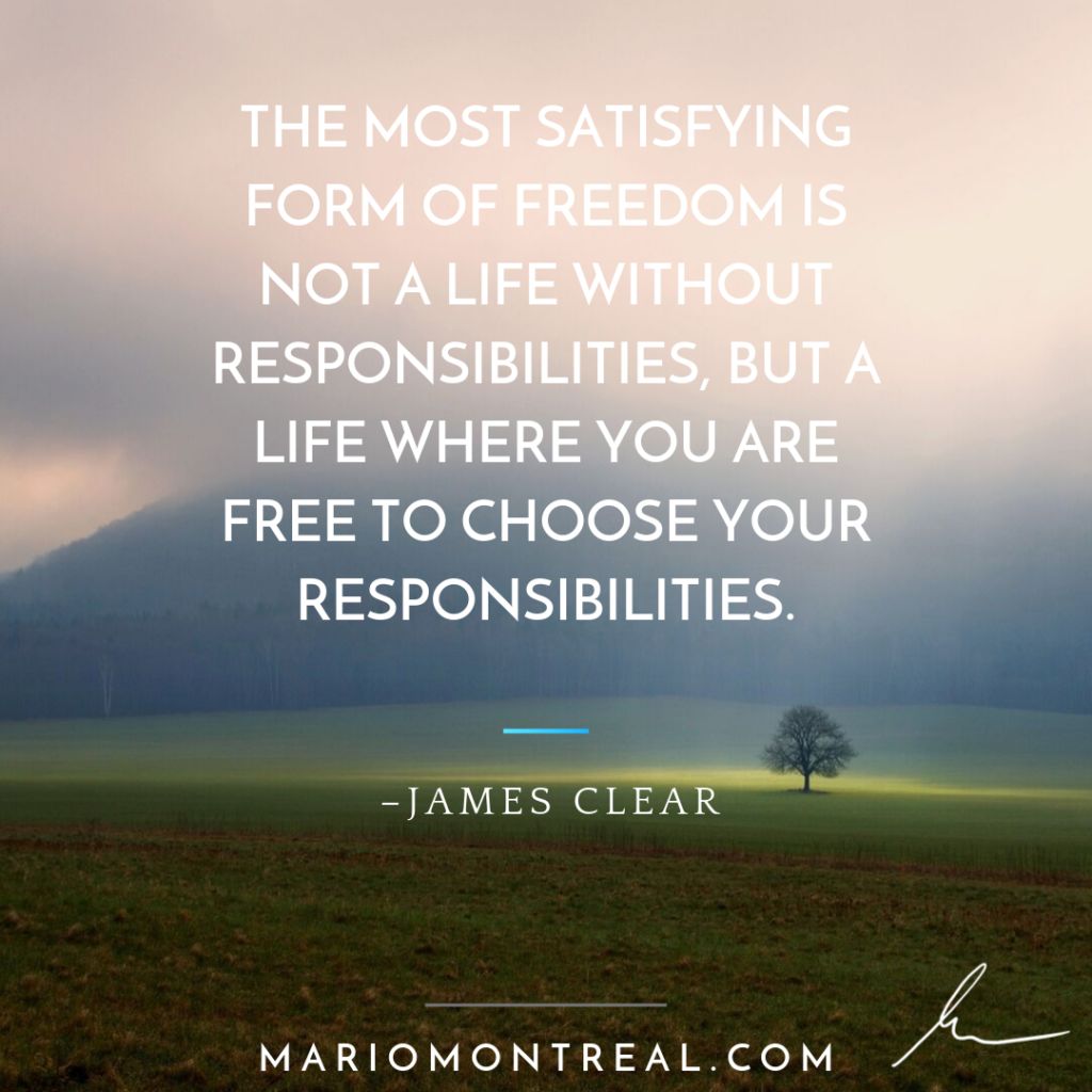 James Clear Responsibility